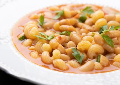 Bean and pasta soup